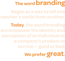 The word branding  began as a way to tell one rancher's cattle